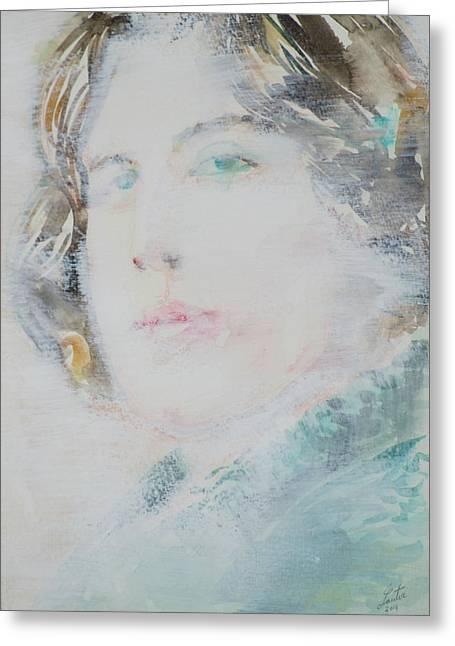 Oscar Wilde - Watercolor Portrait.7 Greeting Card by Fabrizio Cassetta