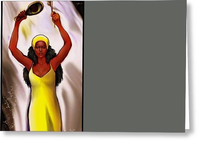 Oshun  Greeting Card by Carmen Cordova