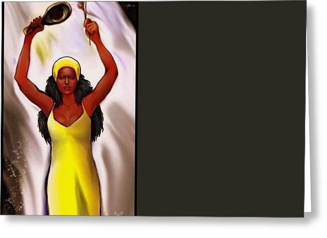 Santeria Goddess Greeting Cards - Oshun Greeting Card by Carmen Cordova