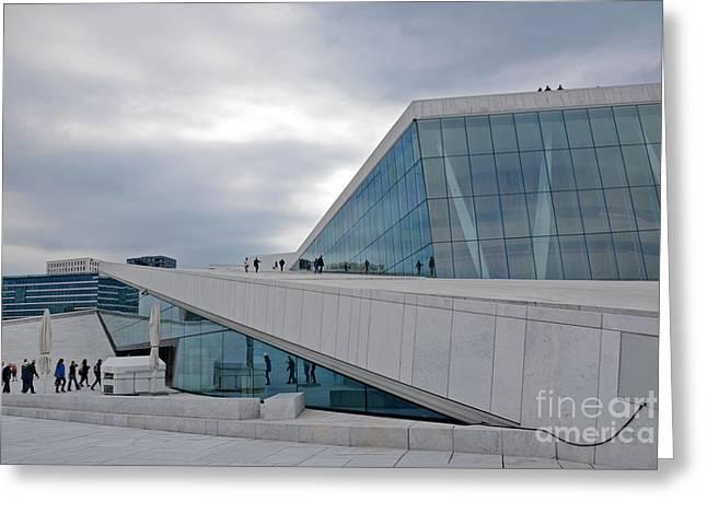 Oslo Opera House Greeting Card by Andrea Simon