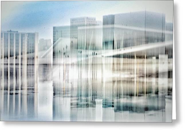 Oslo Opera House Greeting Card by Kathleen Alhaug