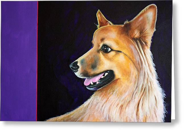Alertness Paintings Greeting Cards - Oso Greeting Card by Keith Alway