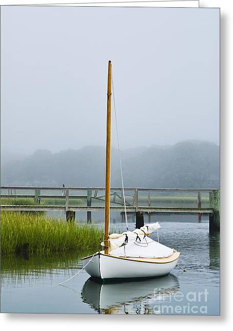 Osterville Sailboat Greeting Card by John Greim