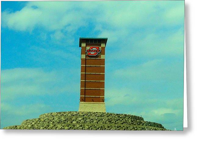 Oklahoma State University Gateway To Osu Tulsa Campus Greeting Card by Janette Boyd