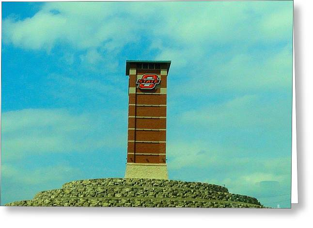 Oklahoma University Greeting Cards - OSU Gateway to OSU Tulsa Campus Greeting Card by Janette Boyd