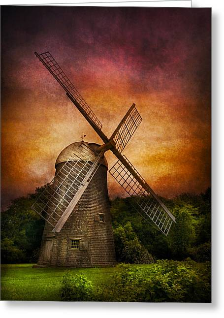 Customizable Greeting Cards - Other - Windmill Greeting Card by Mike Savad