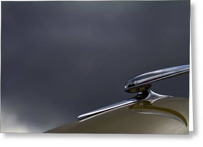 Car Hood Ornament Photographs Greeting Cards - Other Worldly Greeting Card by Rebecca Cozart