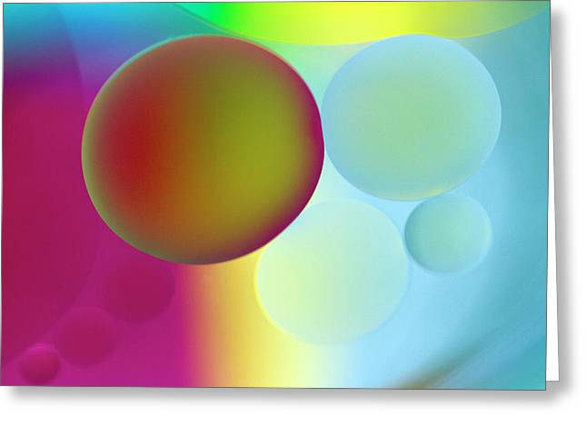 Abstract Globes Greeting Cards - Other Worlds Greeting Card by Rebecca Cozart