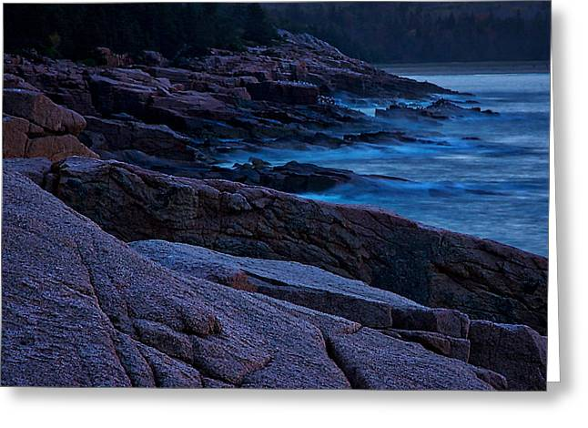 Coastal Maine Greeting Cards - Otter Cliffs Dawn #3 Greeting Card by Stuart Litoff