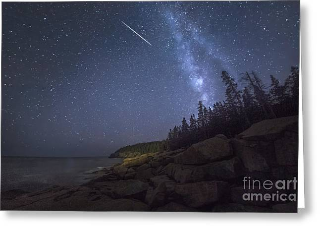 Otter Cove Meteor Greeting Card by Marco Crupi