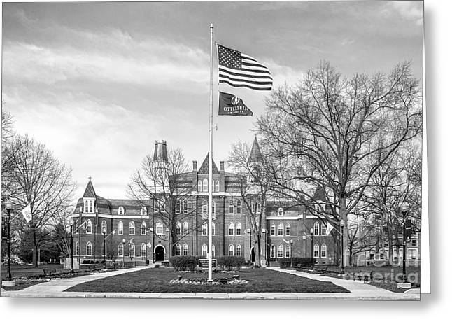 Occasion Greeting Cards - Otterbein University Towers Hall Greeting Card by University Icons