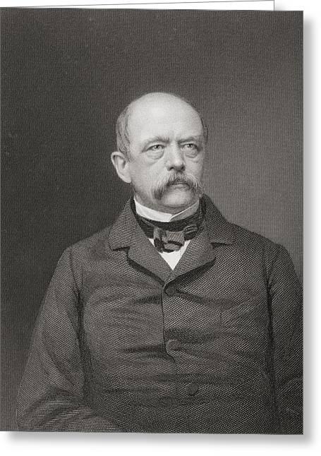 Leopold Greeting Cards - Otto Eduard Leopold Von Bismarck, 1815 Greeting Card by Ken Welsh