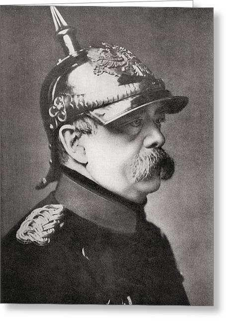 Chancellor Drawings Greeting Cards - Otto Eduard Leopold Von Bismarck Greeting Card by Ken Welsh