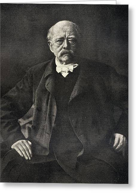 Chancellor Drawings Greeting Cards - Otto Von Bismarck,or Otto Eduard Greeting Card by Ken Welsh