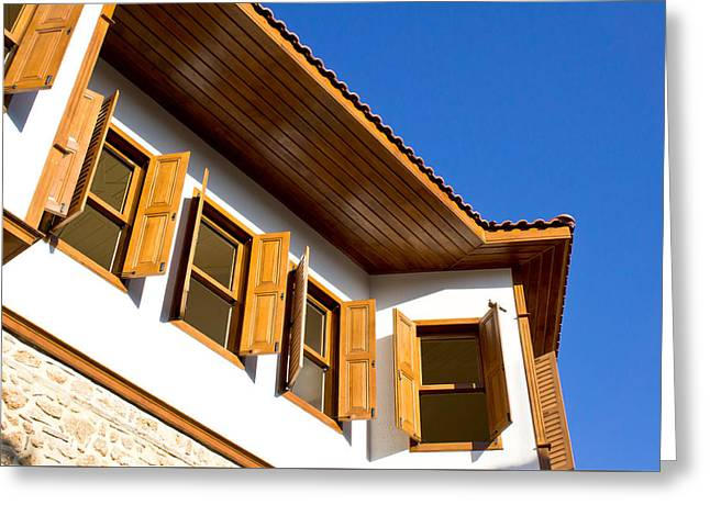 Restored Home Greeting Cards - Ottoman houses Greeting Card by Tom Gowanlock