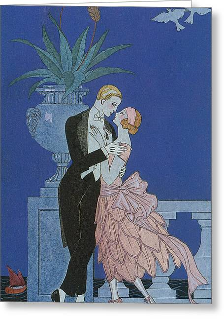 Oui Greeting Card by Georges Barbier
