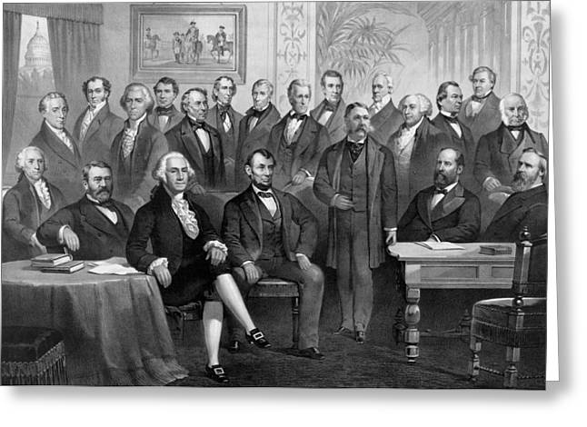 Our American Presidents 1789 - 1881  Greeting Card by War Is Hell Store
