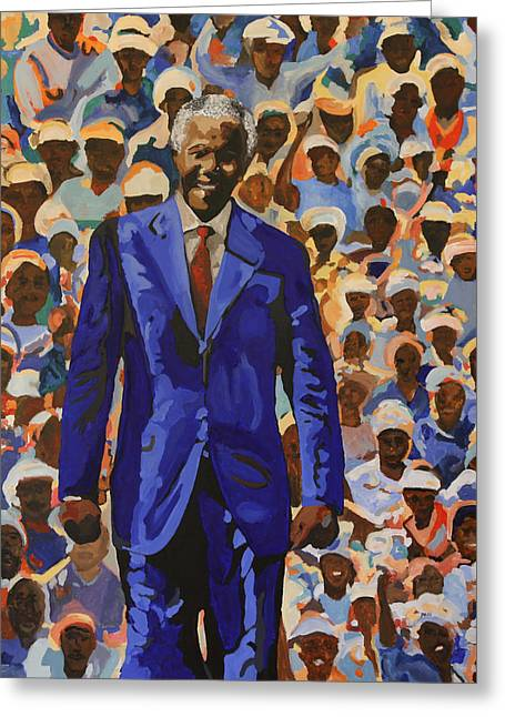 Civil Rights Greeting Cards - Our Beloved Tata Greeting Card by Dari Artist