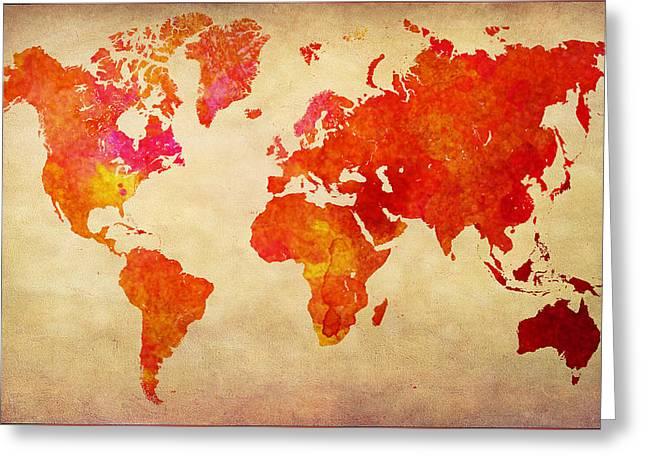 Our Colorful World Greeting Card by Lj Lambert