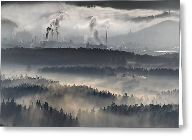 Light Pollution Greeting Cards - Our Common Future Greeting Card by Matjaz Cater