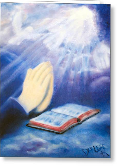 Praying Hands Greeting Cards - Our Daily Bread Greeting Card by Darlene Richardson