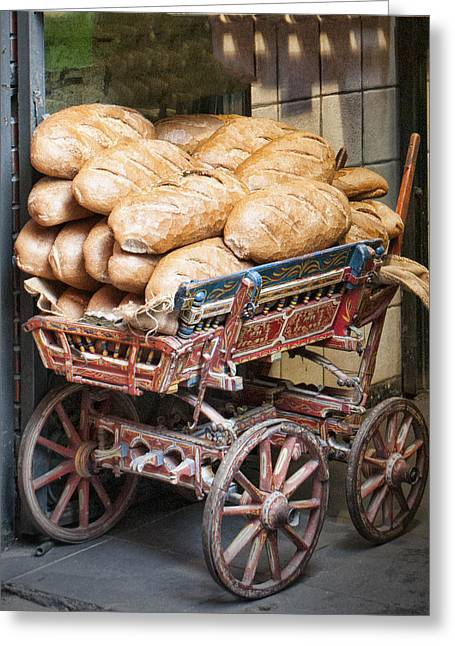 Organic Greeting Cards - Our Daily Bread Greeting Card by Phyllis Taylor