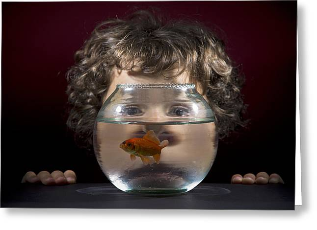 Aquariums Greeting Cards - Our Distorted Vision Greeting Card by Kike Balenzategui