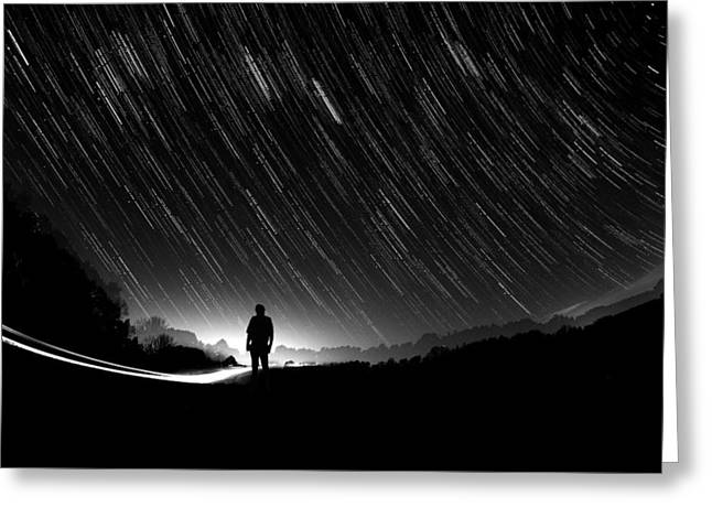 Exposure Greeting Cards - Our Fate Is In The Stars Greeting Card by Ashlyn Scoggins