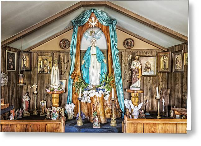 Rosary Greeting Cards - Our Lady of Blind River Greeting Card by Andy Crawford