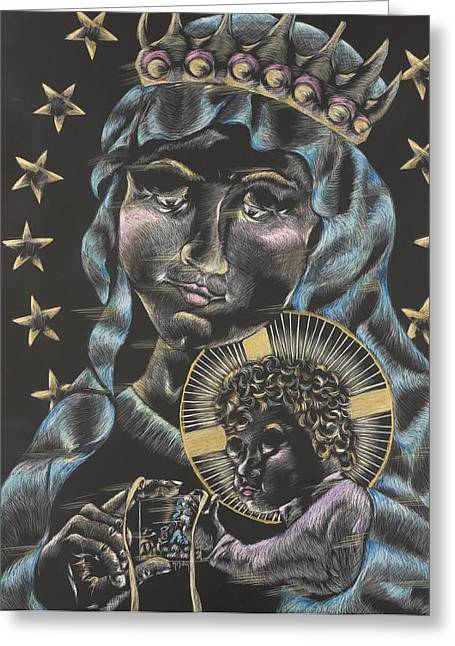 Virgin Mary Greeting Cards - Our Lady Of Mt. Carmel Greeting Card by Michelle Miller