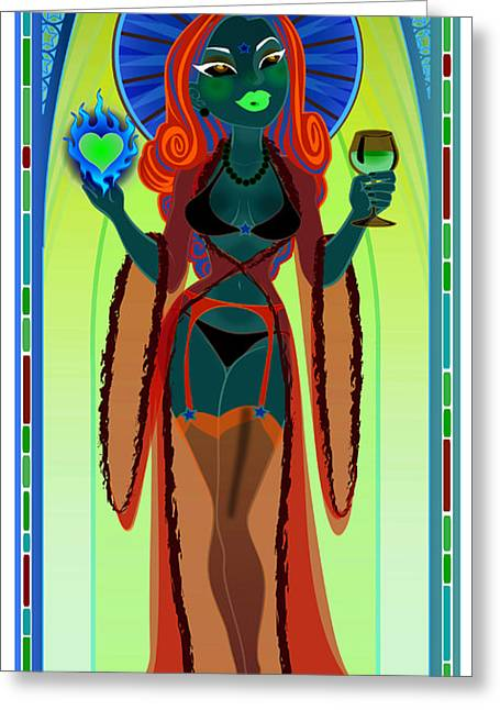 Our Lady Of Perpetual Bliss Greeting Card by Cristina McAllister