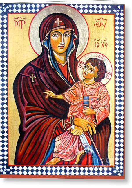 Bible Paintings Greeting Cards - Our Lady of the Snows  Greeting Card by Ryszard Sleczka