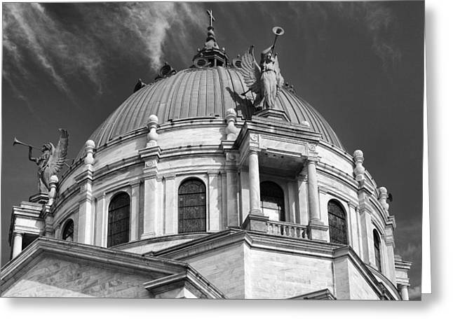 Our Lady Of Victory Basilica 2 Greeting Card by Peter Chilelli