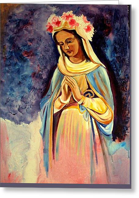 Our Lady Queen Of Mercy Greeting Card by Sheila Diemert