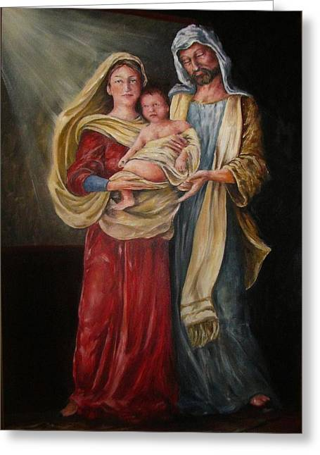 Christ Child Greeting Cards - Our Savior is Born Greeting Card by Richard Klingbeil