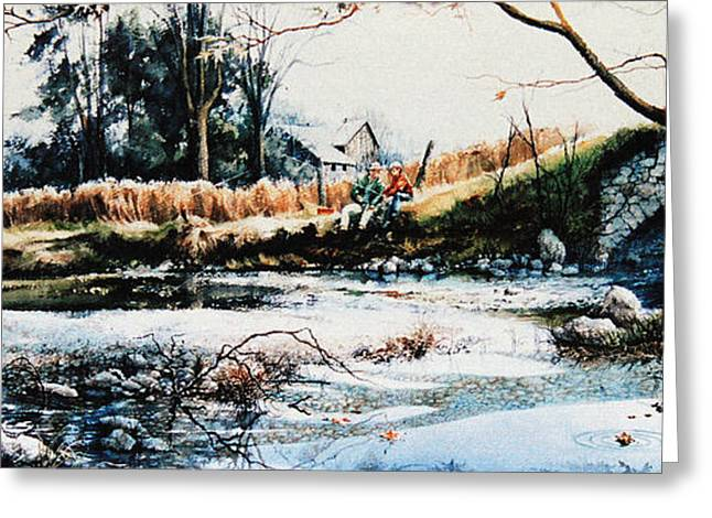Fishing Creek Greeting Cards - Our Special Place Greeting Card by Hanne Lore Koehler