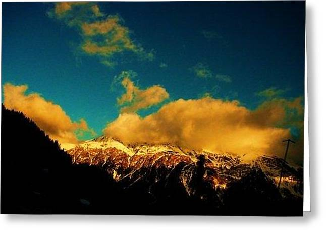 Switzerland Tapestries - Textiles Greeting Cards - Ouro Greeting Card by Nila  Poduschco