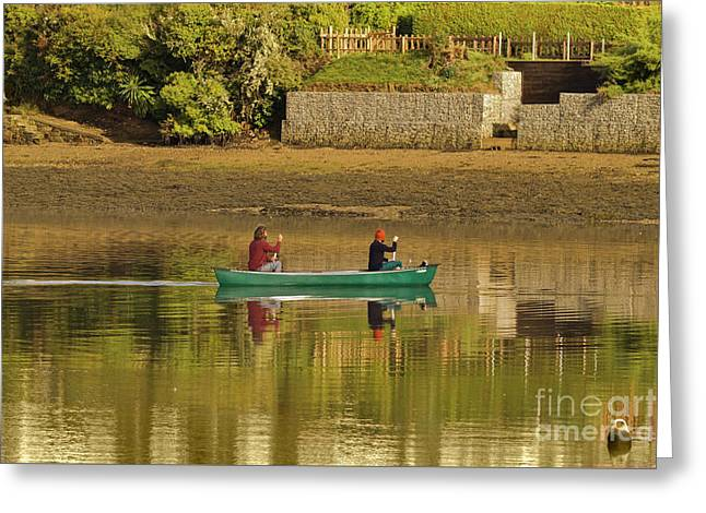 Out For A Paddle Greeting Card by Terri Waters