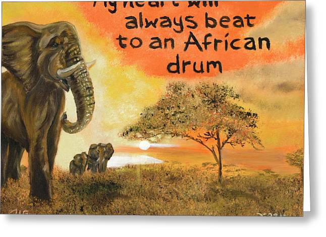 Gypsy Greeting Cards - Out Of Africa Greeting Card by The GYPSY And DEBBIE