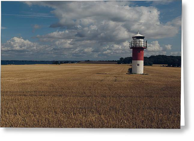 Field. Cloud Greeting Cards - Out Of Place Greeting Card by Andreas Samuelsson