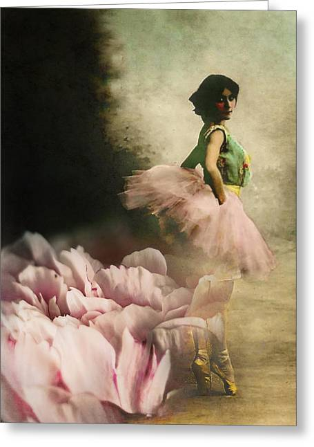 Ballet Dancers Greeting Cards - Out of Starlit Dimness Greeting Card by Rebecca Sherman