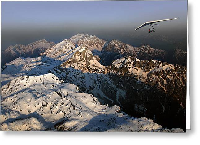 Hang Greeting Cards - Out Of The Blue Greeting Card by Matjaz Cater