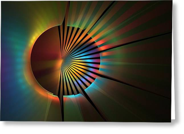 Apophysis Digital Art Greeting Cards - Out of the Corner of My Eye Greeting Card by Lyle Hatch