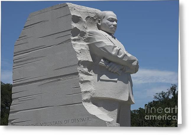 Civil Rights Greeting Cards - Out of the Mountain of Despair a Stone of Hope Greeting Card by David Bearden