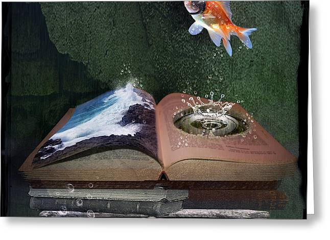 Lessons Greeting Cards - Out of the Pond Greeting Card by Karen K