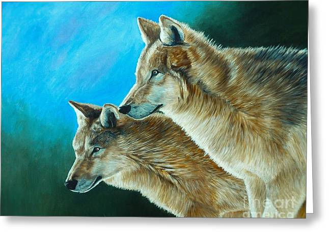 Wolf Greeting Cards - Out of the Shadows Greeting Card by Kevin Ballew