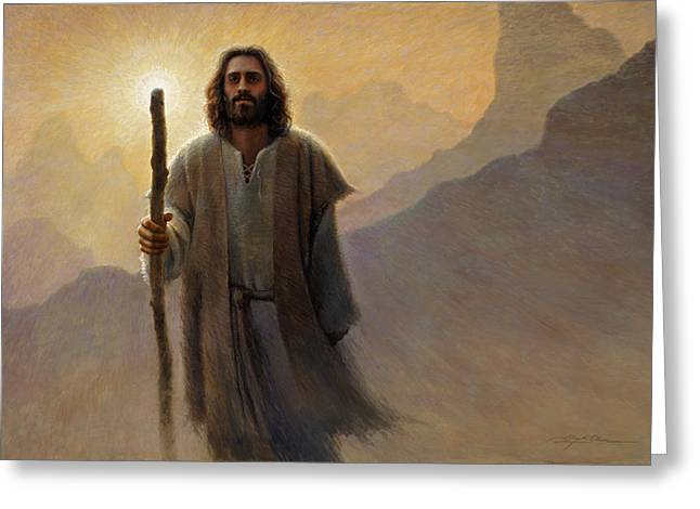 Jesus Art Greeting Cards - Out of the Wilderness Greeting Card by Greg Olsen