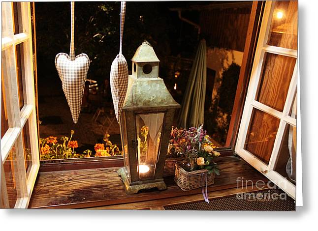 Window Of Life Greeting Cards - Out of the Window Greeting Card by Jutta Maria Pusl