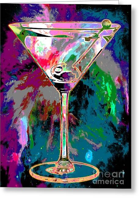 Martini Greeting Cards - Out of this World Martini Greeting Card by Jon Neidert