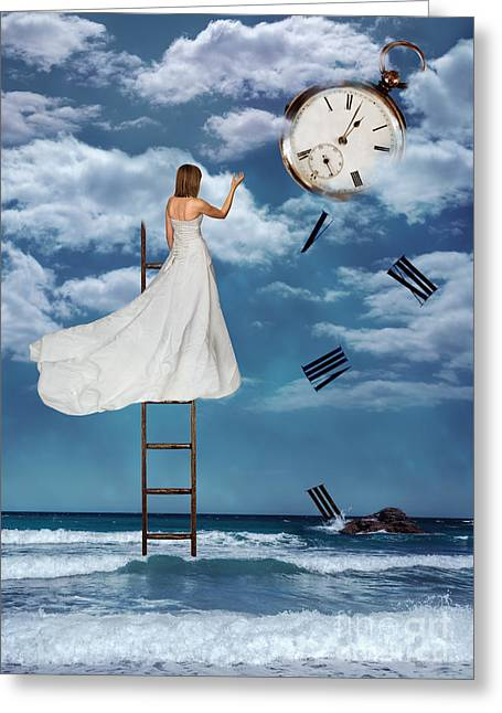 Busy Life Greeting Cards - Out Of Time Greeting Card by Amanda And Christopher Elwell